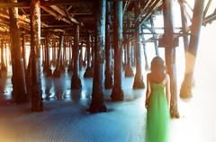 PentaxSP_long3 (▓▓▒▒░░) Tags: california santa color film beach 35mm pier los long exposure pentax angeles monica spotmatic daytime