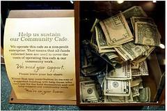 the donation box at Panera Cares (via Shopper Culture)