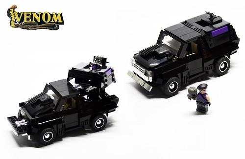 Custom minifig M.A.S.K Venom Jackhammer