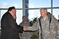 MG Walsh meets the Mayor (USACE HQ) Tags: minnesota flooding northdakota redriver fargo oxbow usace moorhead usarmycorpsofengineers stpauldistrict northrivervalley emergencylevees