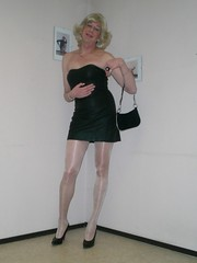 LBD and handbag. (sabine57) Tags: drag tv cd crossdressing tgirl transgender tranny transvestite crossdresser crossdress transvestism