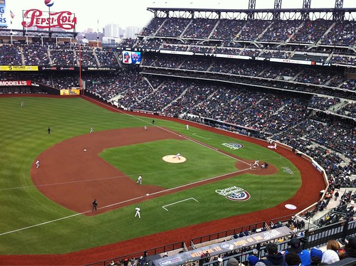 Citi Field home opener:  Mets - Nationals - View From My Seat -