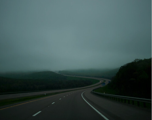 John Humble, Driving East, I-70, West Virginia, 2010