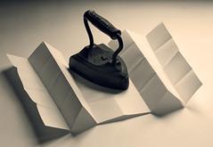 Unfold (JeffStewartPhotos) Tags: blackandwhite bw blackwhite iron utata folded fold heavy weight unfolded unfold foldedpaper ironphotographer antiqueiron utata:description=hide utata:project=ip123