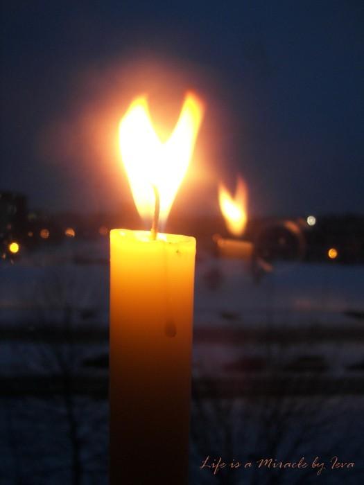 Žvakės liepsna