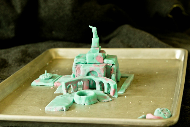 salt-dough temple