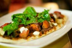 NOtaBLE: vegetarian flatbread pizza (Tiny Bites) Tags: travel food calgary dinner ab bistro gourmet alberta finedining karenhamilton tinybites casualfinedining