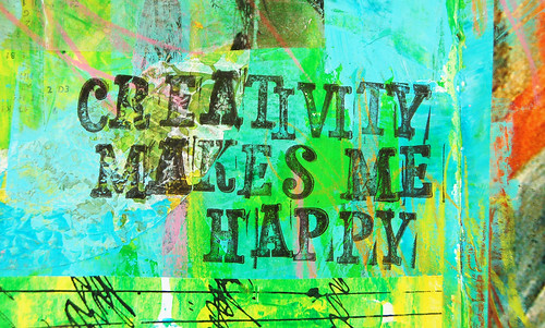 Creativity makes me happy
