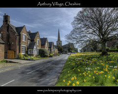 Astbury Village (Paul Simpson Photography) Tags: road uk flowers england church sunshine countryside cheshire asbury stmary hdr daffodils springtime stmarys villagelife villagegreen englishvillage chocolateboximage cheshirelife chocolateboxcover paulsimpsonphotography