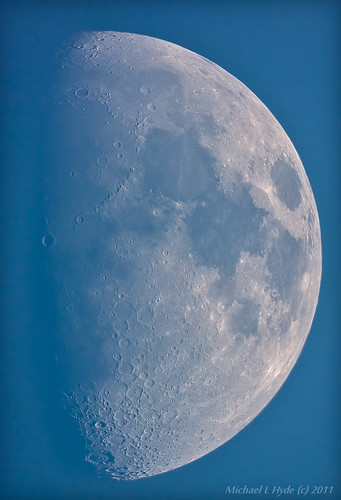 Blue sky Moon 120411 by Mick Hyde