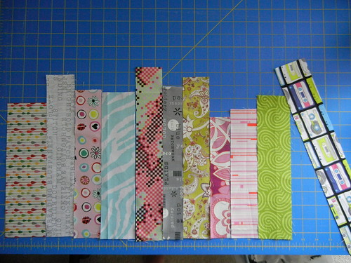 Commissioned mini bookshelf quilt in progress