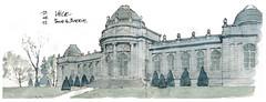 Liège, parc de la Boverie (gerard michel) Tags: architecture sketch belgium musée watercolour liège croquis mamac