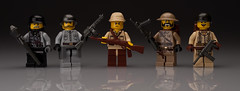 World War Two Soldiers (~Ghost Soldier~) Tags: world 2 reflection japan america germany cool war gun lego russia britain awesome ghost bap grease ba sten m3 axis figs helmets prototypes allies panzerfaust protos minifigures ppsh brickarms kar98k minibigs soldier2010