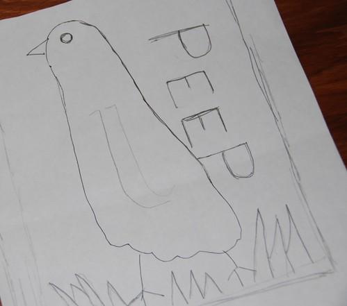 spring peep drawing
