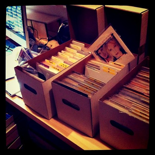 7inch vinyl box by Ustream on-air