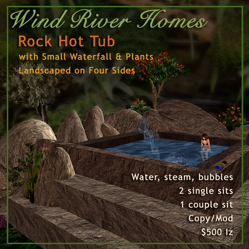 Rock Hot Tub with environment by Teal Freenote
