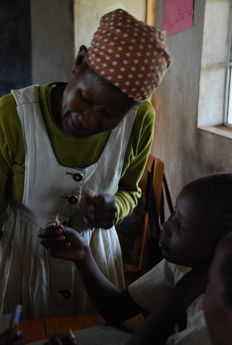 In the classroom - Madam Margaret at the Kakenya Centre for Excellence