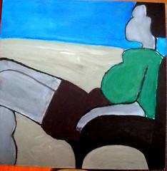 Seated Woman (O Ricard) Tags: acrylic acrylique oricard