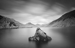 The Rock and the Lake (Semi-detached) Tags: sky lake mountains rock landscape big nikon long exposure view natural britain district sigma hills lee cumbria serene 1020mm lakeland wastwater stopper d300
