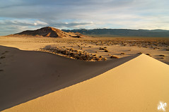 Land of Light and Shadow - Ibex Sand Dunes, Death Valley National Park (Joshua Cripps) Tags: road yellow nationalpark desert tripod playa deathvalley sanddunes manfrotto washboard naturephotography acratech ballhead ibexsanddunes joshuacripps owlsheadmountains henrywade nikond300s