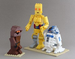 I can't abide those Jawas! (SPARKART!) Tags: starwars lego r2d2 scifi droid c3po seethreepio artoo detoo