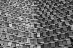 Vasarely-like building (K@st) Tags: bw abstract paris france skyscraper immeuble