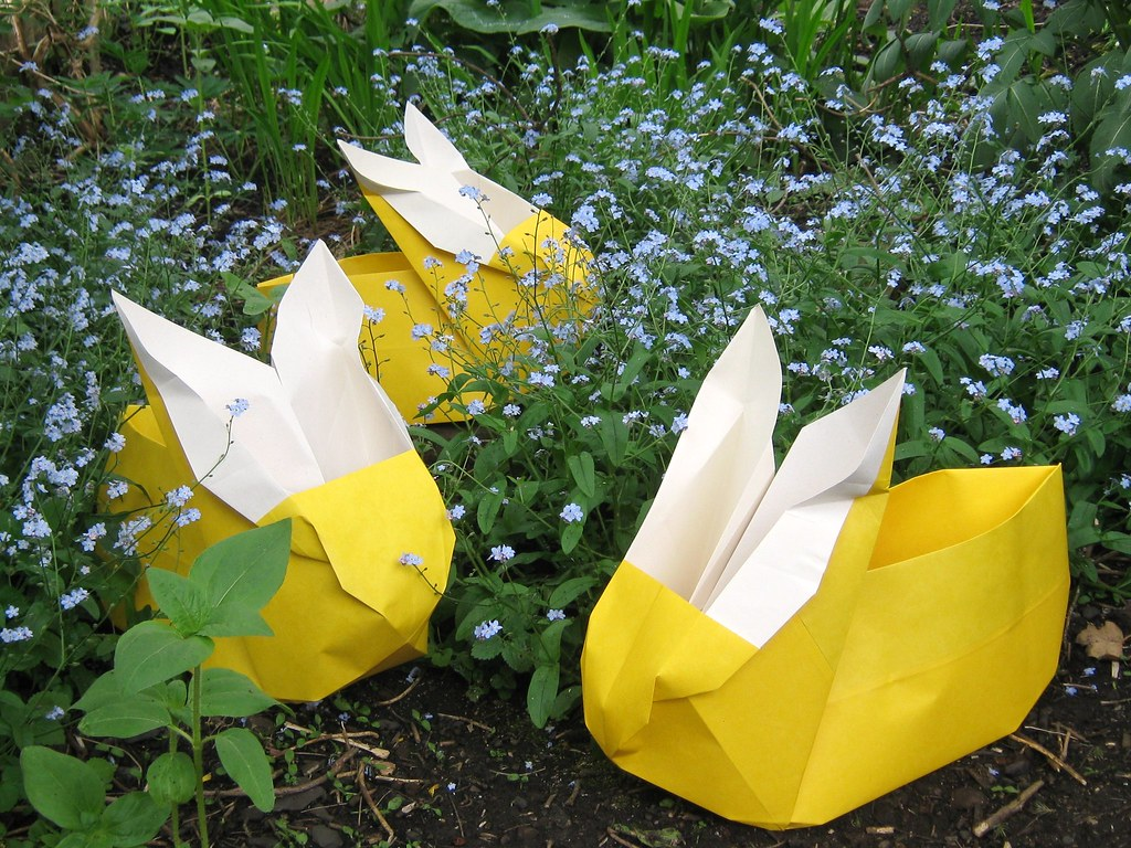 The Worlds Best Photos Of Origami And Plants Flickr Hive Mind Nut Spring Bunnies In Forget Me Nots Joeys Dream Garden Tags
