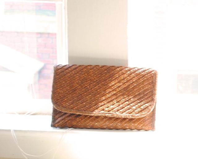 vintage straw clutch