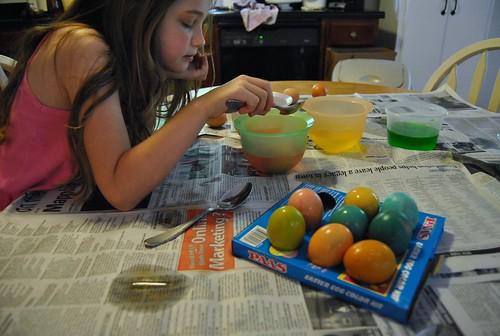 egg dying fun