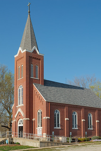 Saint Gertrude Roman Catholic Church, in Grantfork, Illinois, USA - exterior