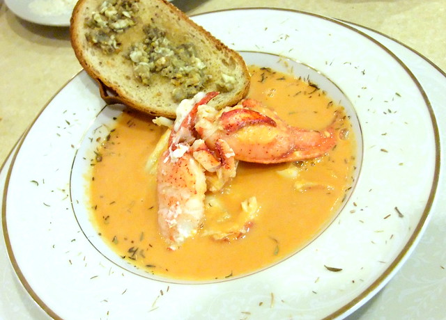 Lobster Bisque with Lobster Roe Toast