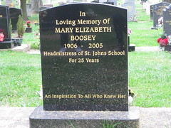 Miss Mary Elizabeth BOOSEY 1906 -2005 Memorial Stone