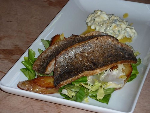 sea bass with sauce gribiche