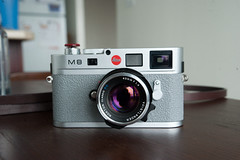 Leica M8 (Christopher Liando) Tags: camera leica toronto ontario wet leather grey hand skin christopher replacement application m8 method apply purell sanitizer liando cameraleather cameraleathercom griptac