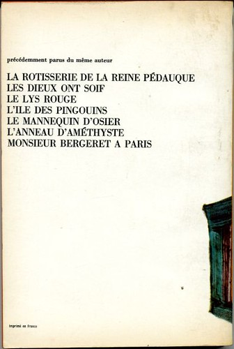 L'orme du mail, by Anatole FRANCE