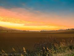 Sunset in Italy (faworld) Tags: leica sunset italy panorama orange yellow clouds landscape italia tramonto dusk country campagna cielo marche paesaggio civitanova