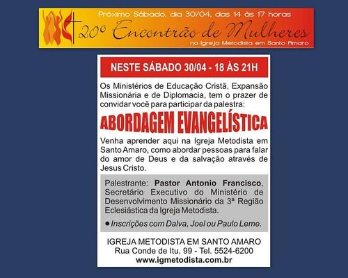 Amanhã na Igreja Metodista em Santo Amaro by Cantinho da Aracy