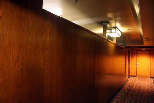 Queen Mary - Original Library Light Fixture - Walls for New Hallway Go Around It