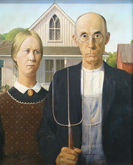 Grant Wood (Ir. Drager) Tags: trip usa chicago art museum geotagged illinois exhibition mcd excursion 1930 americangothic grantwood theartinstituteofchicago mastercitydeveloper