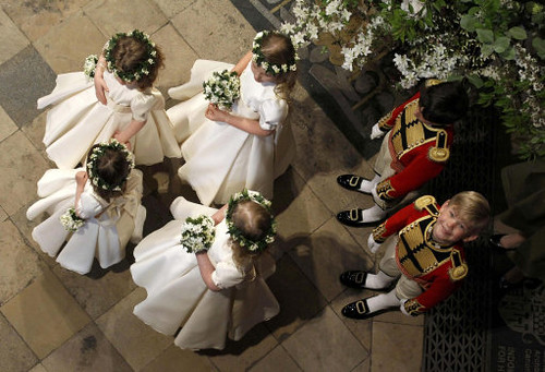 Bridesmaids and page boys by The British Monarchy