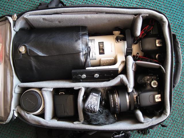 Camera bag, Florida trip