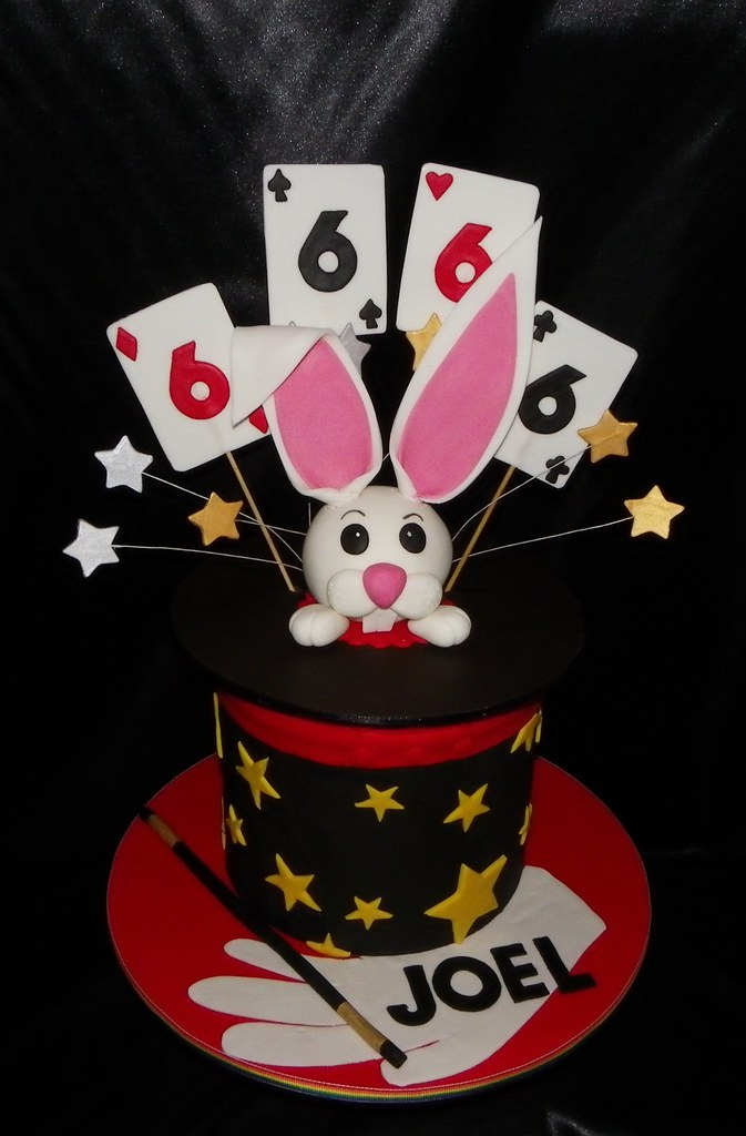 Magic Hat Rabbit Birthday Cake Frosted Memories By Emma Tags Red