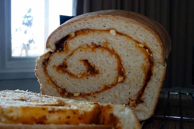 A delicious. Year: Tomato Pesto & Feta Swirl Bread
