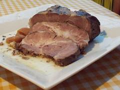 Cerdo confitado en aceite de oliva