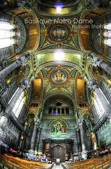 Basilique Notre Dame de Fourvière [HDR] (Hussain Shah.) Tags: france nikon lyon fisheye hdr shah basilique hussain fourvière 105mm basiliquenotredamedefourvière d300s