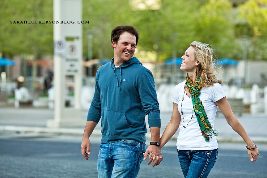 Crown Center engagement photos
