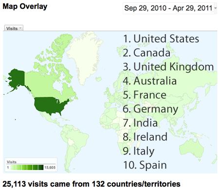 DHAnswers world traffic overlay