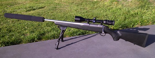 Tikka T3 Stainless Lite, Left hand, Gun Works Suppressor and Zeiss Conquest Scope