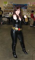 Black Widow costumer at Boston Comic Con 2011 (FranMoff) Tags: costume cosplay blackwidow comiccon costumer bostoncomiccon bostoncomiccon2011 bostoncomicconday2