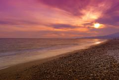 (Elo CM) Tags: pink sunset sea sky espaa beach mar spain sand mediterranean mediterraneo rosa wave playa andalucia arena cielo granada puestadesol hdr ola nikond3100